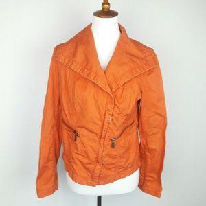 Michael Kors Orange Zip Up Jacket w/ Pockets
